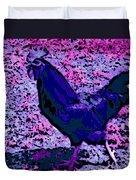 Blue Rooster Duvet Cover