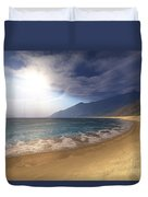 Blue Seas And Radient Sun Shine In This Duvet Cover