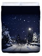 Blue Silent Night Duvet Cover