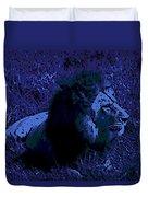 Blue Simba Duvet Cover