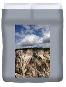 Blue Skies And Grand Canyon In Yellowstone Duvet Cover