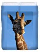 Blue Sky Giraffe Duvet Cover