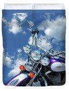 Blue Sky Harley Duvet Cover