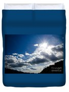 Blue Sky With Clouds Duvet Cover