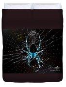 Blue Spider Duvet Cover