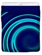 Blue Swirls Duvet Cover