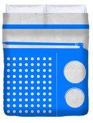 Blue Transistor Radio Duvet Cover