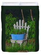 Blue Tub Duvet Cover