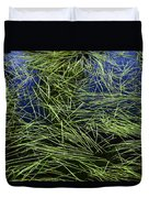 Blue Water Green Grass Glacier National Park Duvet Cover
