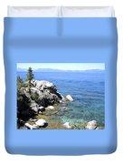 Blue Waters Of Lake Tahoe Duvet Cover