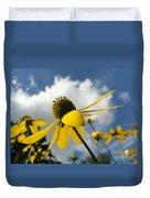 Blue Yeller Duvet Cover