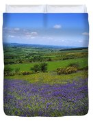 Bluebell Flowers On A Landscape, County Duvet Cover