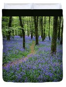 Bluebell Wood, Near Boyle, Co Duvet Cover