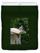 Bluebirds Make Me Happy Duvet Cover