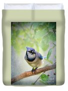 Bluejay In A Tree Duvet Cover