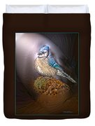 Bluejay In Spotlight Duvet Cover