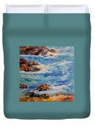 Blues And Browns Duvet Cover
