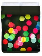 Blurred Christmas Lights Duvet Cover