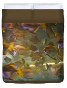 Blurred Image Of Fish Swimming In An Duvet Cover