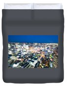 Blurred View Towards An Object Duvet Cover