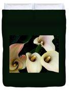 Blushing Calla Lilies Duvet Cover