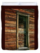 Boarded Doorway Duvet Cover