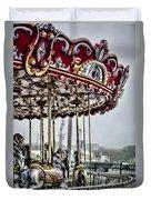 Boardwalk Carousel Duvet Cover