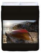 Boat And Sunlight Duvet Cover