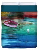 Boat And The Buoy Duvet Cover