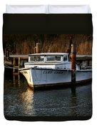 Boat At Rest Duvet Cover