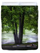 Boat By The Pond 2 Duvet Cover