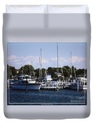 Boat Harbor In Dunkirk New York Duvet Cover