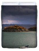 Boat On Loch Sunart, Scotland Duvet Cover