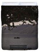 boat on the Lago Maggiore Duvet Cover
