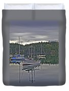 Boating Reflections Duvet Cover