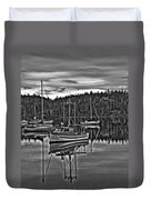 Boating Reflections Mono Duvet Cover