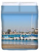 Boats And Blue Water Duvet Cover