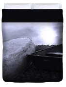 Boats By The Pond Duvet Cover