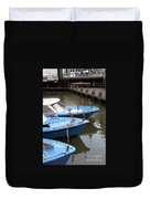 Boats In Amsterdam. Holland Duvet Cover