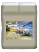 Boats Of Panglao Island Duvet Cover