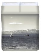 boats on Lake Constance Duvet Cover