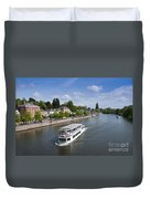 Boats On River Dee Duvet Cover