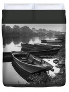 Boats On The Vienne Duvet Cover