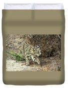 Bobcat Stalking Prey Duvet Cover