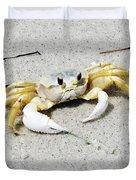 Boca Grande Crab Duvet Cover
