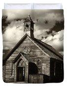 Bodie Church Sepia Duvet Cover