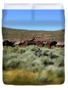 Bodie Ghost Town Landscape Duvet Cover