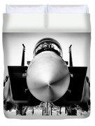 Boeing F-15sg Eagle Black And White Duvet Cover