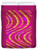 Bold Swirl  Duvet Cover by Louisa Knight