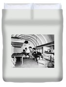 Bomb Shelter, 1955 Duvet Cover